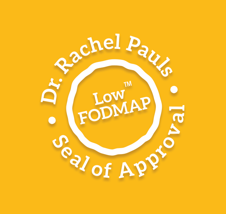 Dr. Rachel Pauls low-FODMAP seal of approval