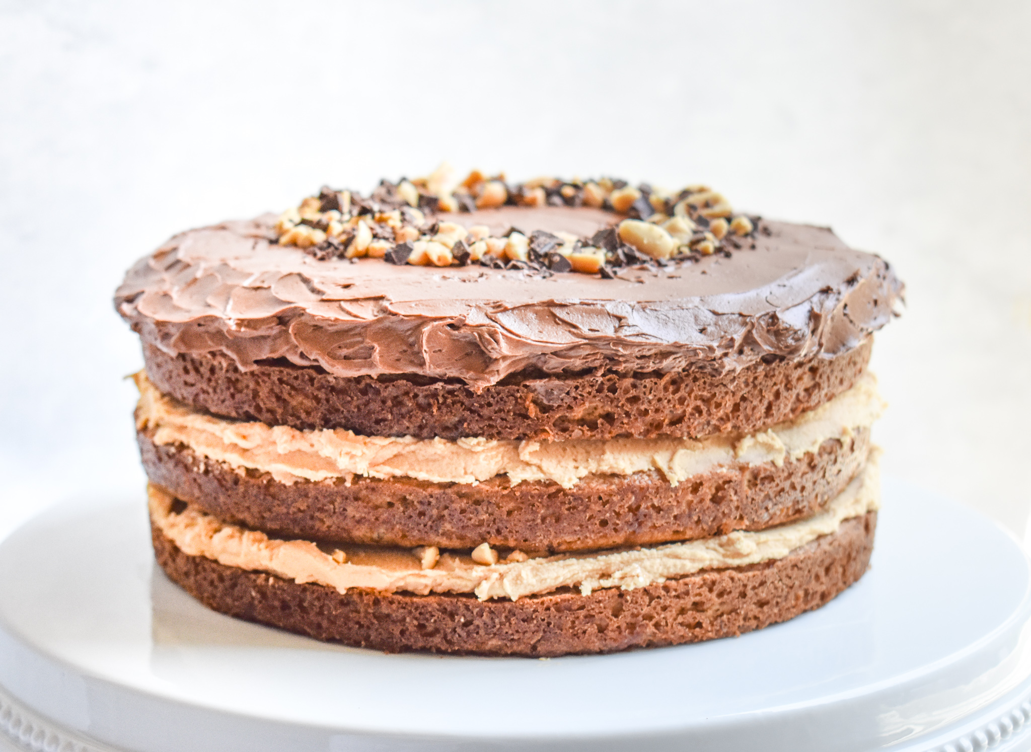 Low Fodmap Banana Peanut Butter And Chocolate Layer Cake