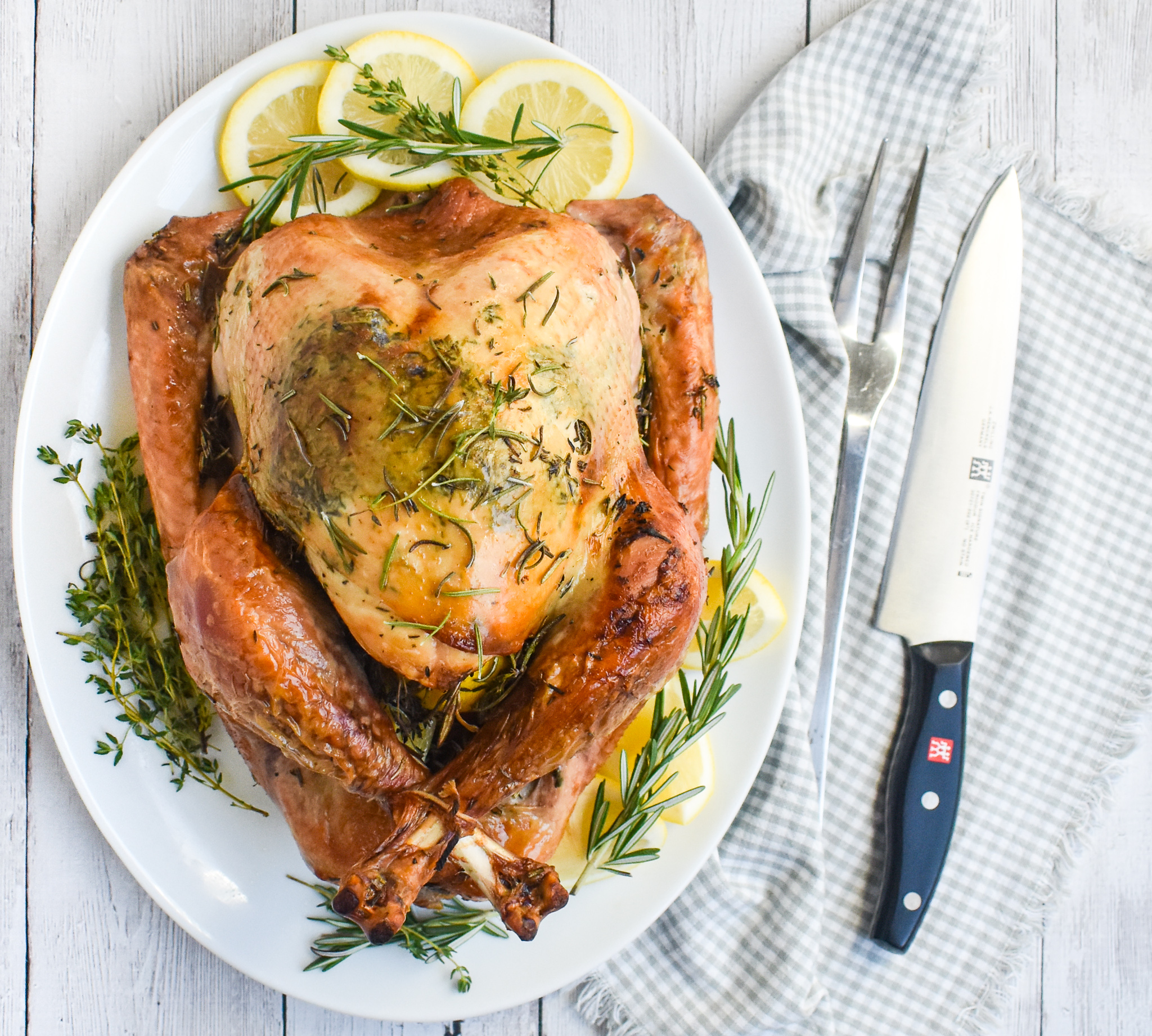 Easy Gluten Free Thanksgiving Recipes: Easy Low-FODMAP Lemon And Herb Butter Roasted Turkey