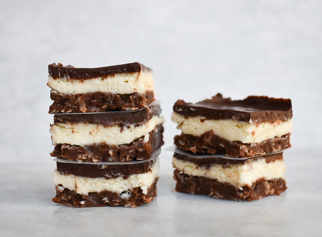 low fodmap nanaimo bars 2 stacks