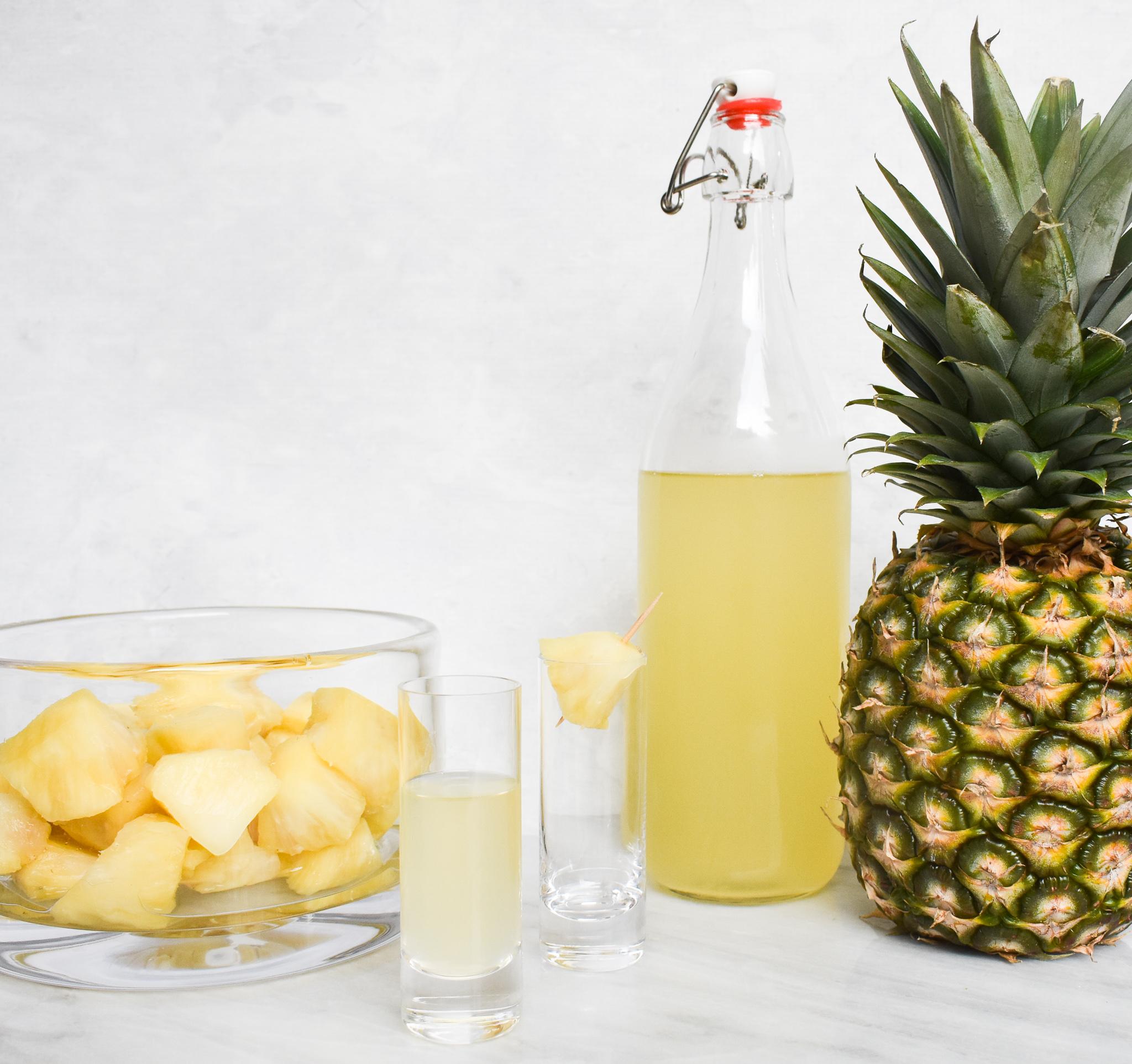 Low-FODMAP Pineapple Infused Vodka Recipe; Gluten-free