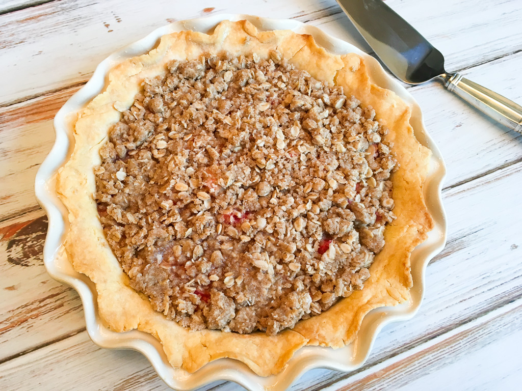 low fodmap strawberry rhubarb pie