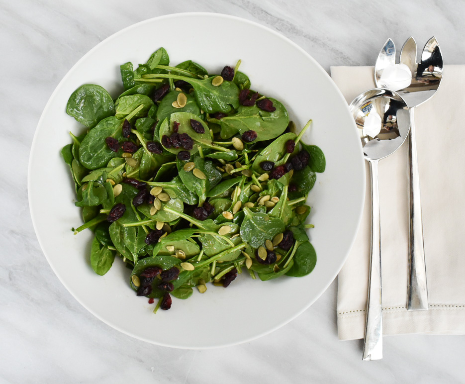 low FODMAP spinach salad