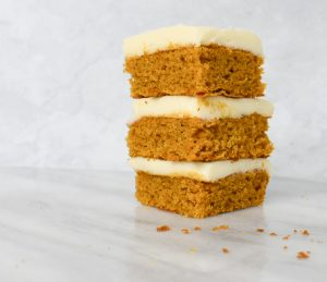 low fodmap pumpkin bars stacked