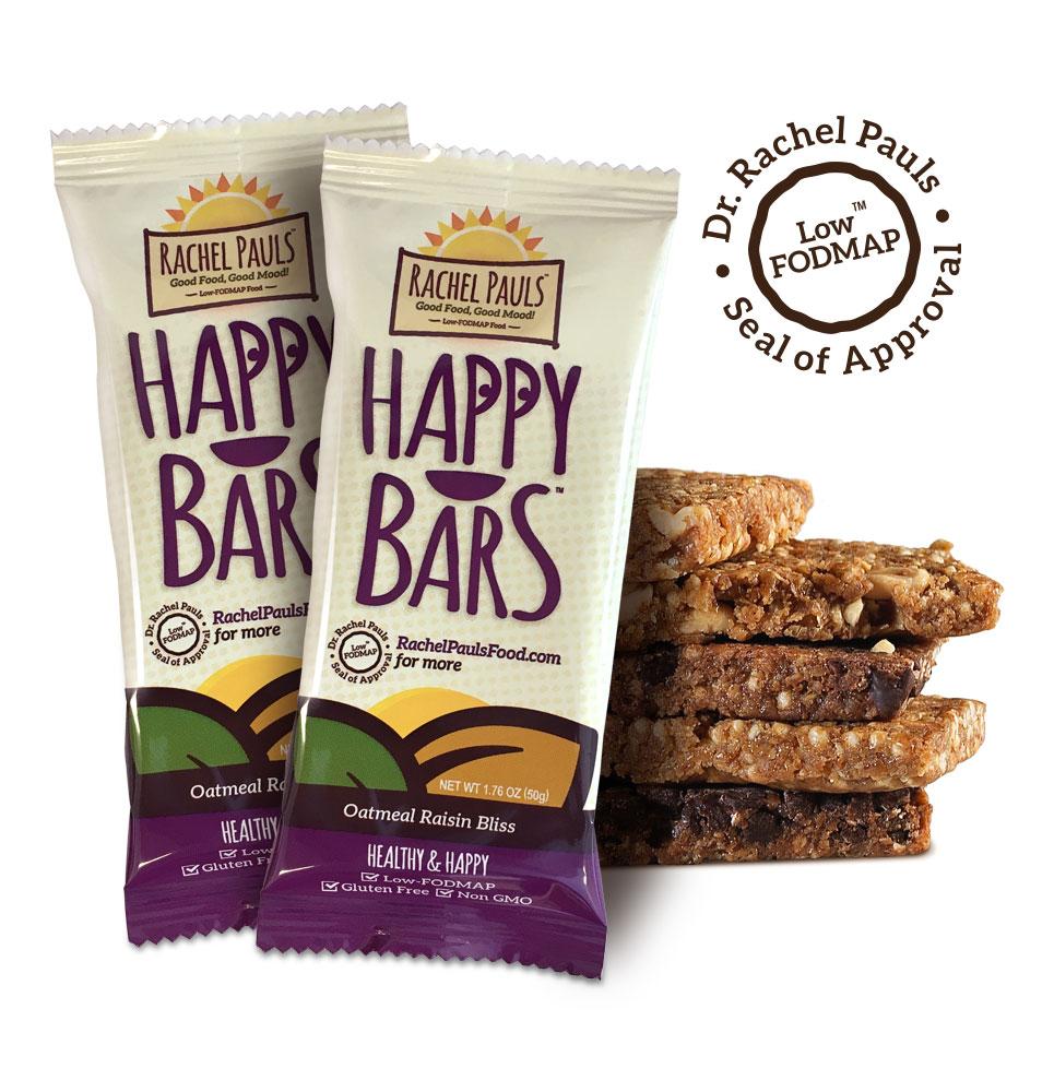 Low Fodmap Oatmeal Raisin Bliss Energy Bars Rachel Pauls