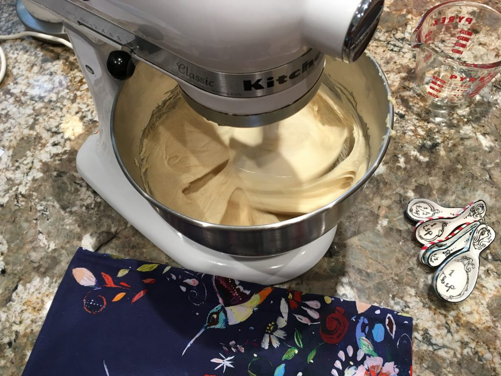 Maple Egg Bread - wet mix